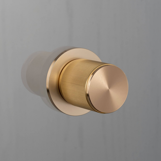 Buster+Punch Door knob Fixed  - Brass - Model LINEAR