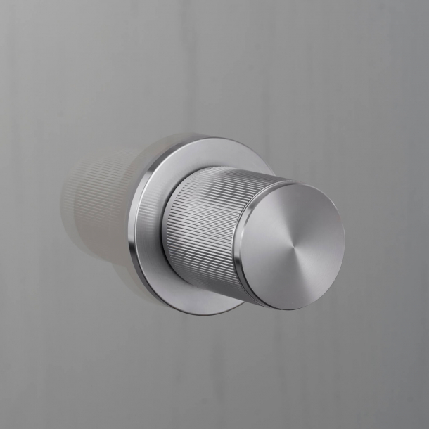 Buster+Punch Door knob Fixed  - Stainless steel - Model LINEAR