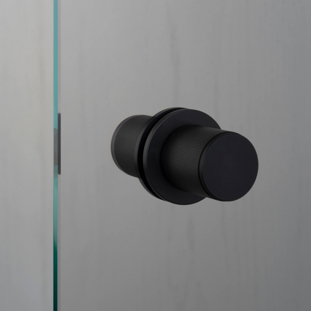 Buster+Punch Door knobs Fixed  - Black - Model LINEAR