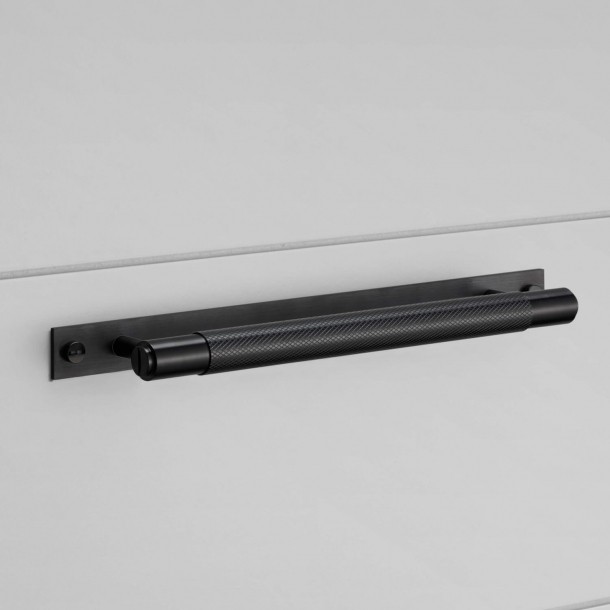 Buster+Punch Pull bar with backplate - Black - Model Cross - 200/300/400mm