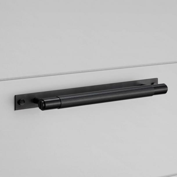 Buster+Punch Pull bar med bakplatta - Svart - Modell Cross - 200/300/400mm