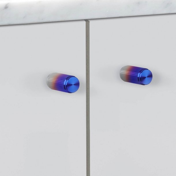 Buster + Punch - LINEAR - Furniture knobs (2 pcs) - Burnt Steel - 12 x 25 mm
