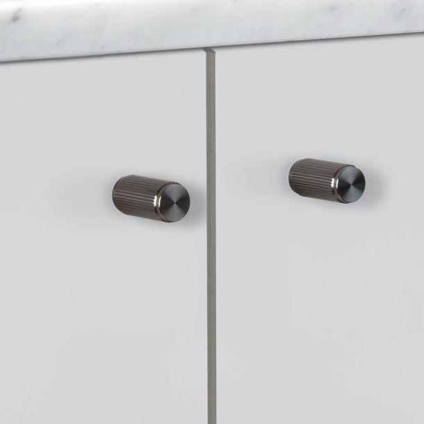 Buster + Punch - LINEAR - Furniture knobs (2 pcs) - Gun metal - 12 x 25 mm