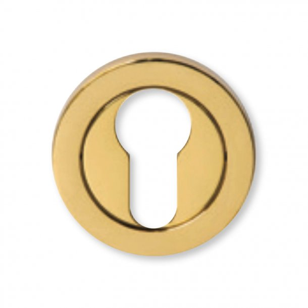Cylinder Ring - Euro Profile with concealed screw  - Brass, ø48mm