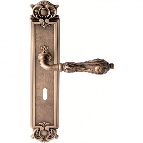 Door handle back plate, Antique bronze, Interior - Model VENICE
