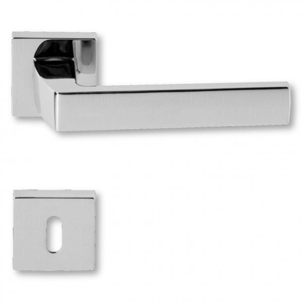 Door handle with keyhole, Chrome, interior, Model ZARA