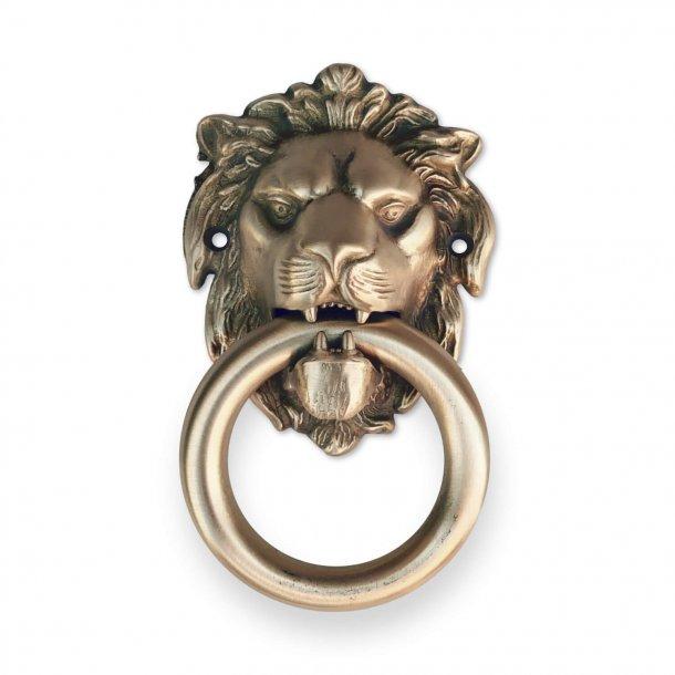 Door knocker lion head, Brushed brass, 90x150 mm, Model LEONE