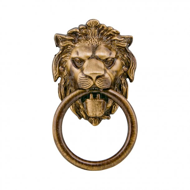 Door knocker lion head, Bronze, 90x150 mm, Model LEONE