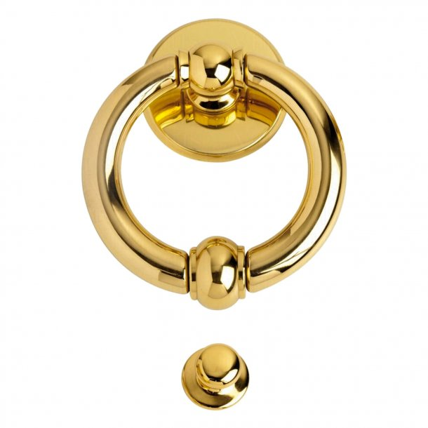 Door knocker brass, 80x135 mm, Ring Model ANELLO