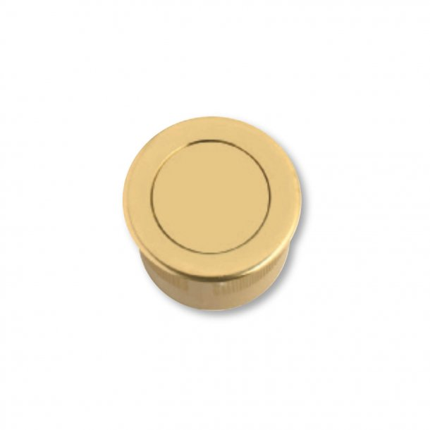 Flush Handle, Brass, With Spring Cover, 30/25 mm