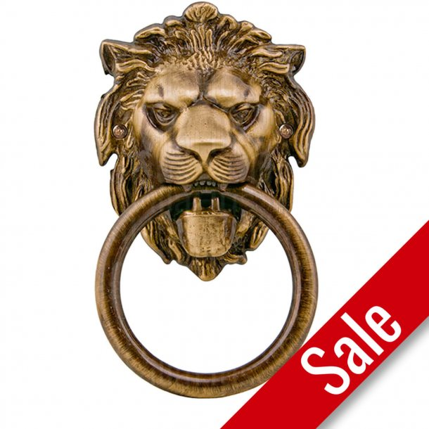 Door knocker lion head, Bronze, 110x190 mm, Model LEONE