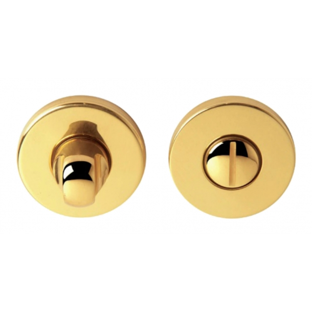Privacy lock - WC Thumbturns on rose - Brass