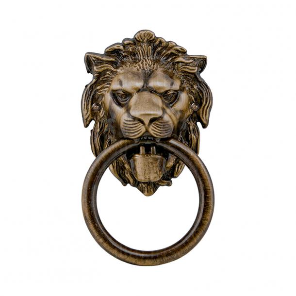 Door knocker - Lion head - Antique bronze - 90x150 mm - Comit Model LEONE BTT005