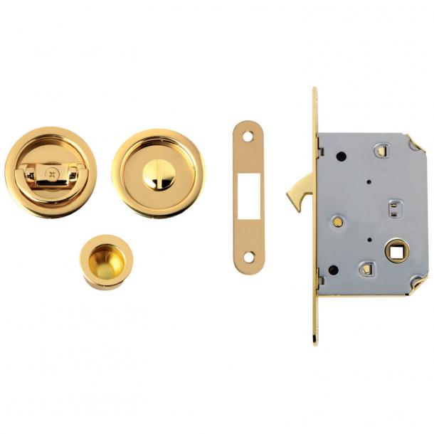 Round Kits for sliding doors - Polished Brass - NIC 102