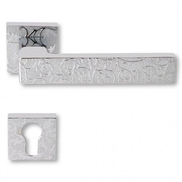 Door handle chrome cylinder exteriors Model BILBAO decoration