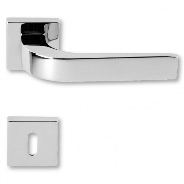 Door handle with keyhole, Chrome, Interior, Model NAVY