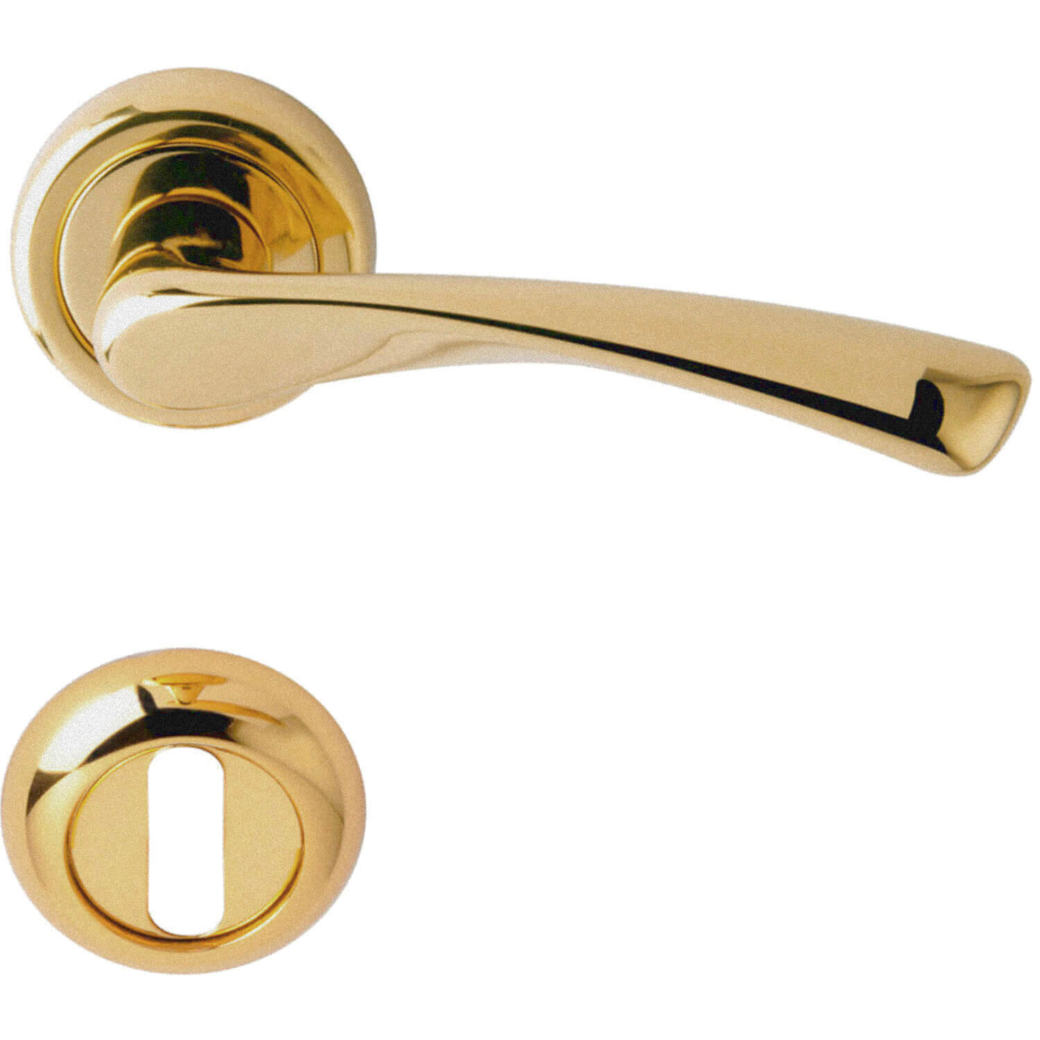 Door Handle Rose Satin Brass Model Galaxy Brass Door