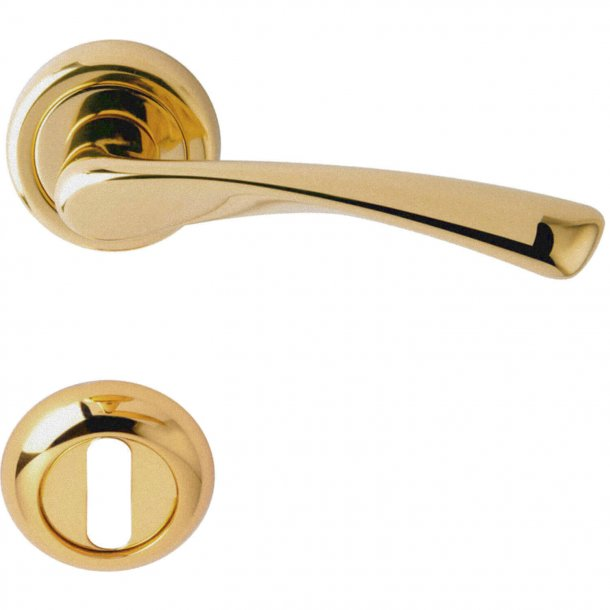 Door handle rose - Satin Brass - Model GALAXY