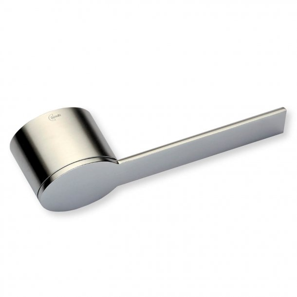 Door handle, Exterior, Satin Nickel, Model QUATTORDICI