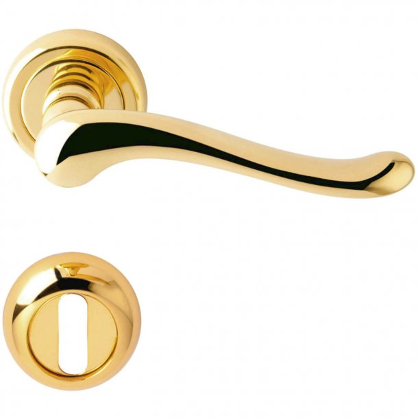 Door handle rose - Brass - Model ASIA