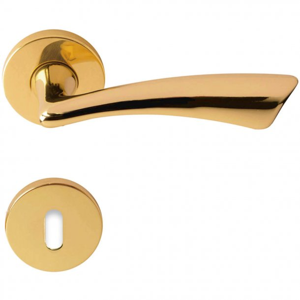 Door handle rose - Brass - Model IDEA
