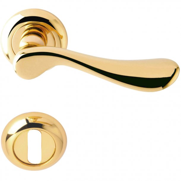 Door handle - Brass - interior - Model MAMILLA