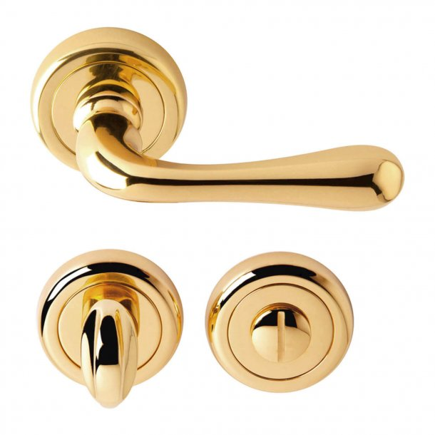 Door handle brass - WC Thumb turn - Model SIENA