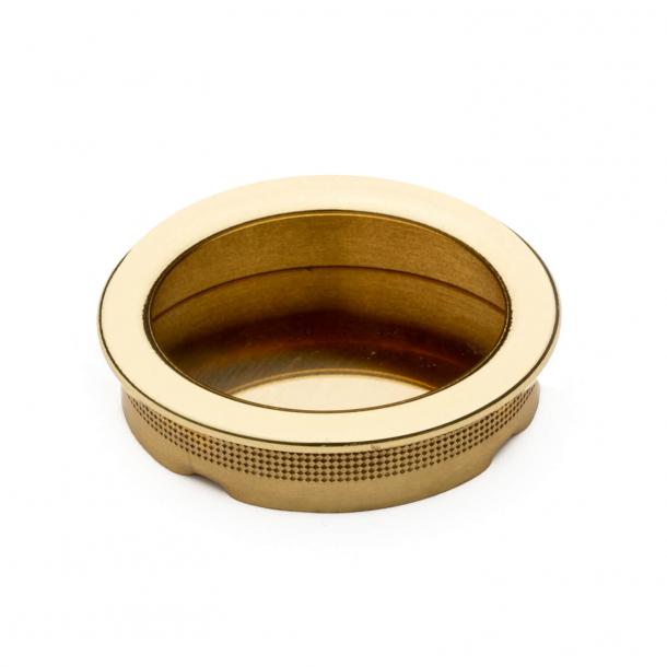 Einlassgriff Schiebetür, Messing, rund, Comit NIC 102 - ø48 mm