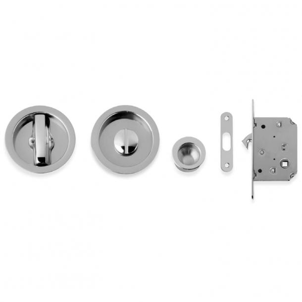 Kits for sliding doors - Brushed chrome - Model K101
