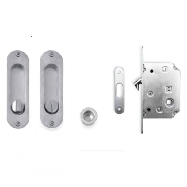 Kits for sliding doors - Brushed chrome - Model K202