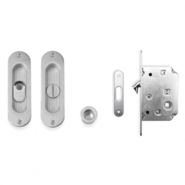 Kits for sliding doors - Brushed chrome - Model K203