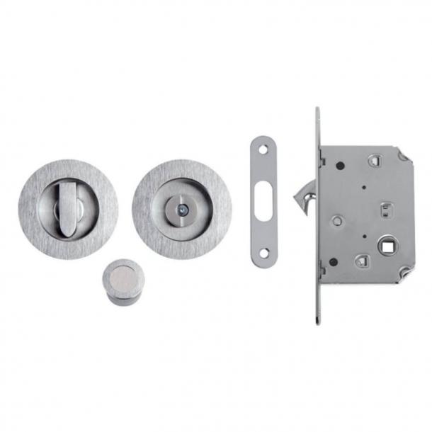 Miski do drzwi przesuwnych z blokadą - Mat chrome - Model K105