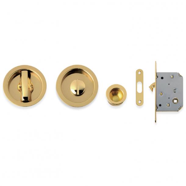 Kits for sliding doors - Polished Brass - Model 101