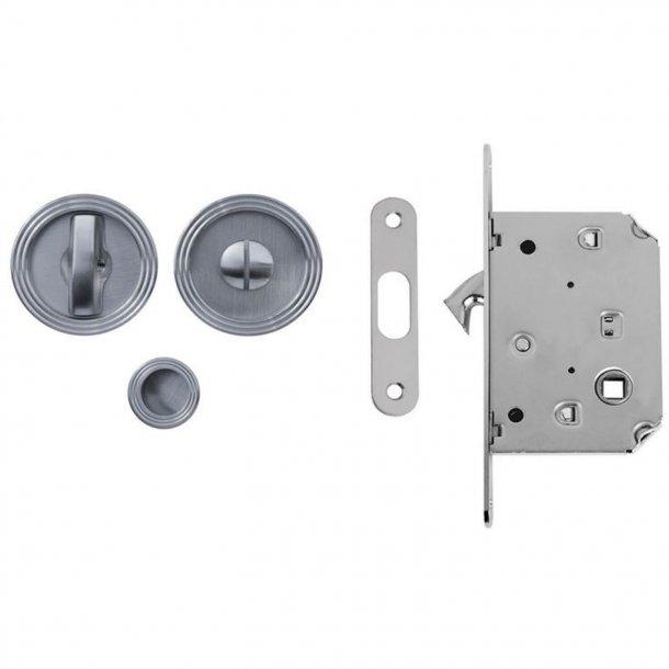 Kits für Schiebetüren - SATINED CHROME - Modell 114
