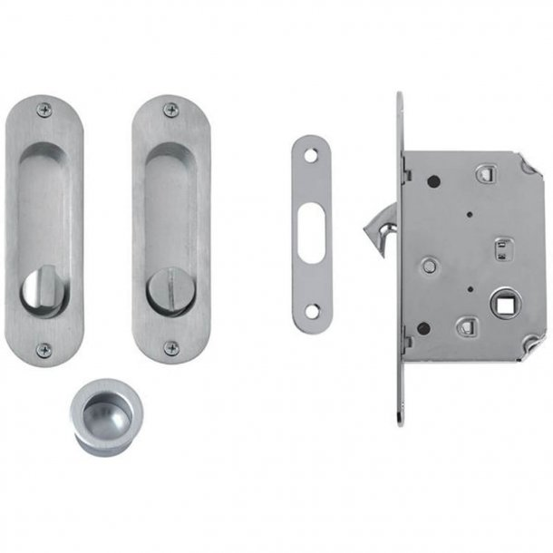 Kits for sliding doors - SATINED CHROME - Model 202