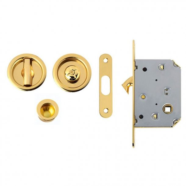 Kits for sliding doors - Polished Brass - Model 102