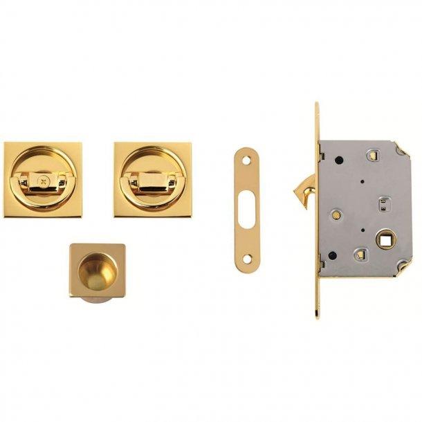 Kits for sliding doors - Polished Brass - Model 302