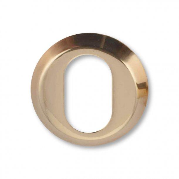 Arne Jacobsen cylinderring udvendig - Poleret Messing - 6 mm