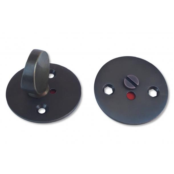 Arne Jacobsen toilet indicator lock - Browned Brass