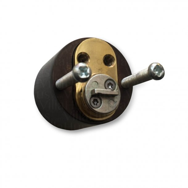 Arne Jacobsen door handle - AJ door handle - Back plate - Cylinder interior and out - Browned Brass