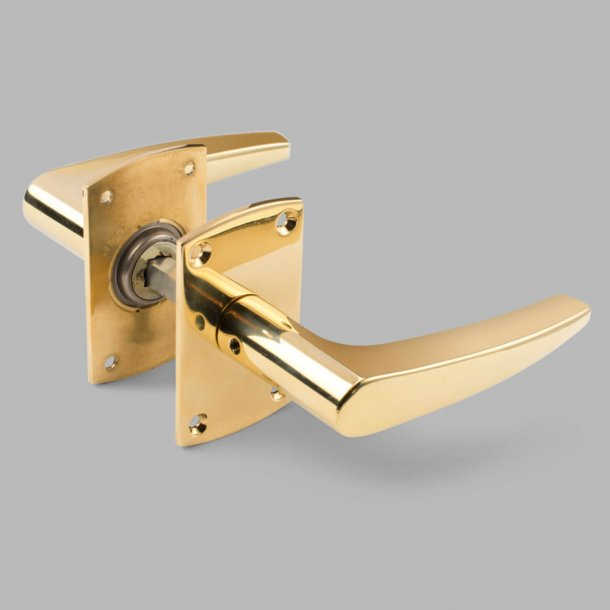 Annelise Bj¿rner door handle - Brass - AB2