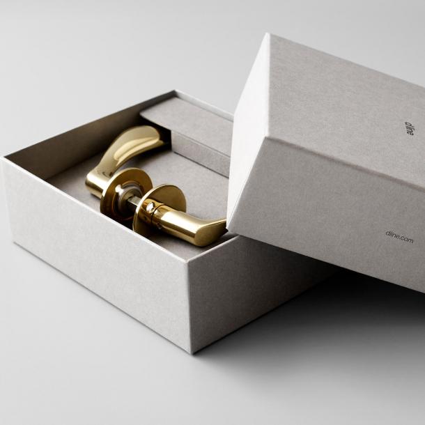 Arne Jacobsen Gaveæske - Dørhåndtag - AJ97 dørgreb - Messing - Lille model cc30mm