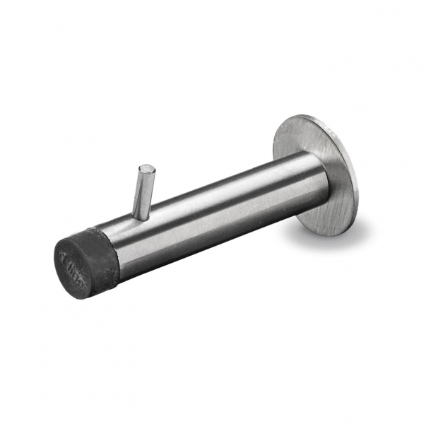 Door stops with hook - Brushed steel - d line - Design Knud Holscher - 125 mm
