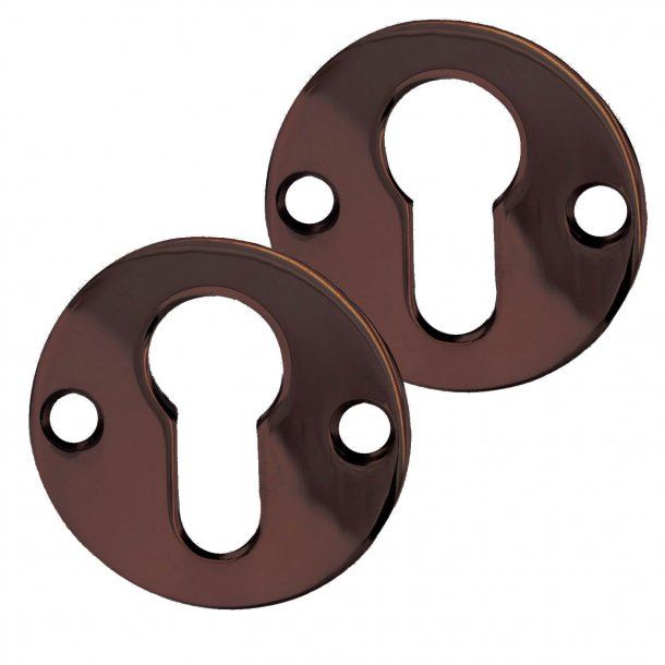 Euro Profile cylinder ring - Browned Brass - Euro Profile lock including screws