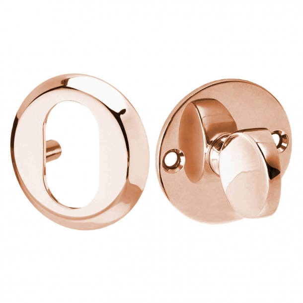 Arne Jacobsen cylinder ring and Thumb turn - Copper - Oval, 6 mm
