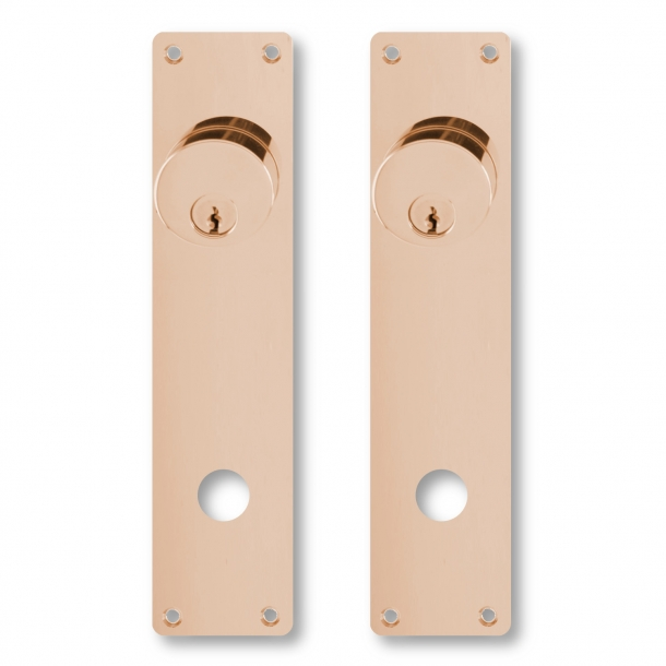 Door back plate Cylinder interior and out - Copper - Kop security guard