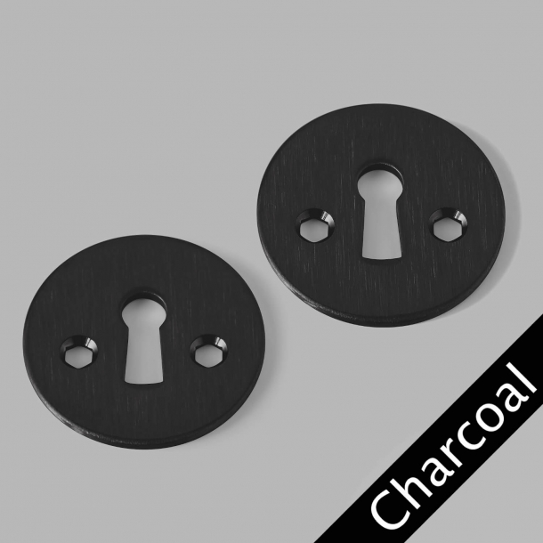 Arne Jacobsen - Rozeta na klucz - Klasyczny - CHARCOAL - cc27mm
