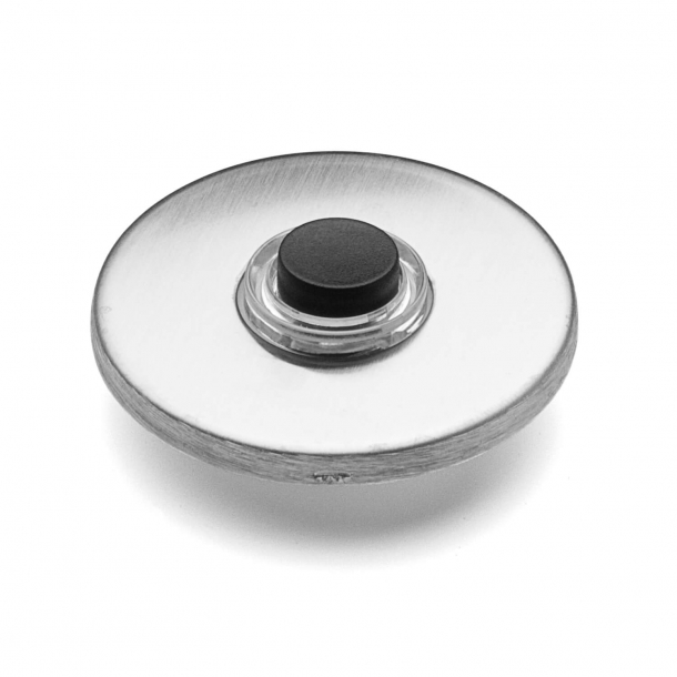 d line Bell push - Brushed steel - ø50 mm