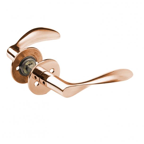Klamka Arne Jacobsen - Klamka AJ111 - Miedź - Duży model - cc38mm