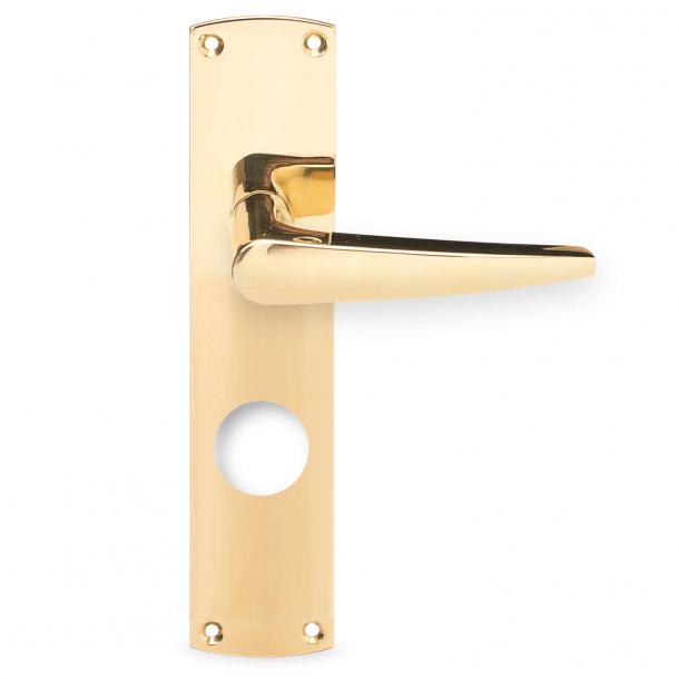 Annelise Bjørner door handle - Brass - Back plate 220 x 45 mm